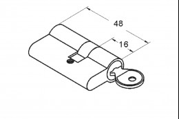 1625 Цилиндр ключ-ключ, 611