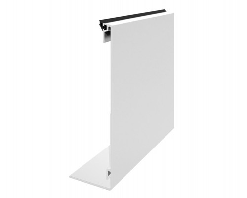 50-6771 Крышка декоративная алюм. анод 141 мм  L-6000мм  для стекла 12, 16мм