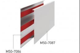 50-7086 Крыша декоративная алюм. для стекла 25мм, анод.